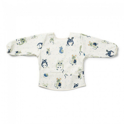Elodie Longsleeve Baby Bib - Forest Mouse