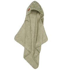 Little Dutch Hooded towel - Wild Flowers Olive