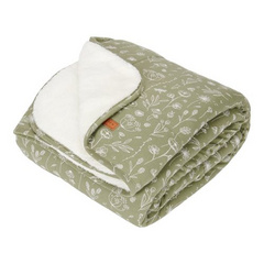 Little Dutch Cot blanket pure & soft - Wild Flowers Olive 110x140