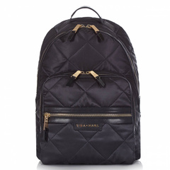 Tiba + Marl Elwood Backpack Changing Bag, Black Quilt