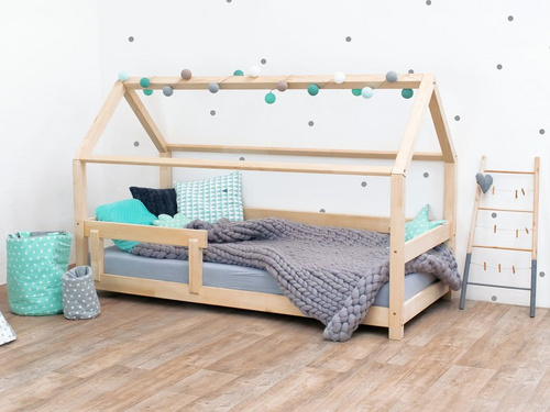 Benlemi Children's House Bed TERY with Firm Bed Guard 160x80