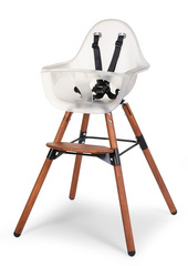 Childhome Evolu 2 high chair Dark Natural Frosted 2in1 + bumper
