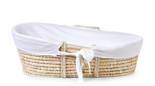 Childhome Moses Basket + Mattress + Jersey Cover Off White