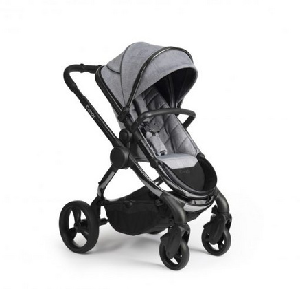 iCandy Peach Pushchair & Carrycot - Phantom Light Grey Check Combo