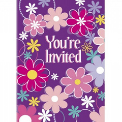 Birthday Blossom invitations
