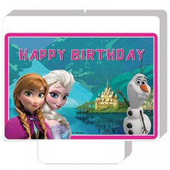 Disney Frozen themed Happy Birthday candle