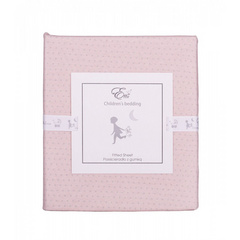 Fitted sheet Effiki rabbits/dots
