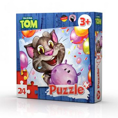 Talking Tom & friends puzzle game.