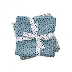Burp cloth, 2-pack, Happy Dots Powder - Done by Deer