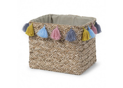 Box straw woven square basket Childhome