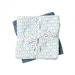 Burp cloth, 2-pack, Ballon Blue - Done by Deer