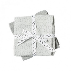 Burp cloth, 2-pack, Ballon Grey - Done by Deer