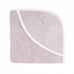 Embroidered Hooded Towel - Sheep Pink