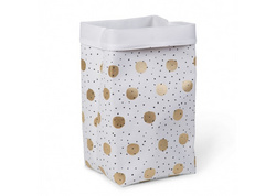 Childhome White Gold Dots canvas box 60x32x32cm