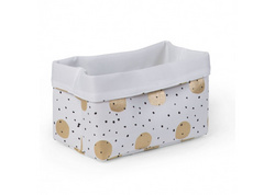 Childhome Canvas Box White Gold Dots 20x20x32cm