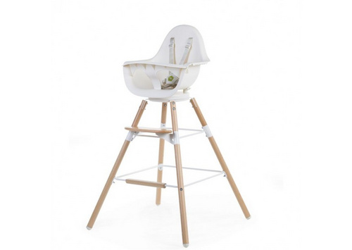 Childhome high chair Evolu ONE.80° White/Natural