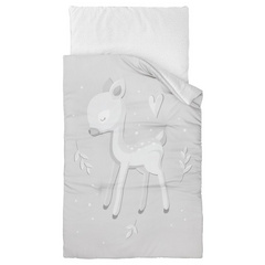 Crib bedding Roe-deer grey by Małgosia Socha 70x100