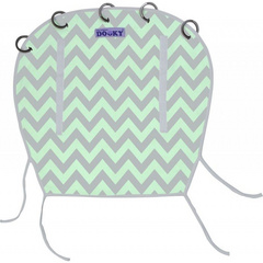 Dooky Universal Cover Design  Mint grey/chevron