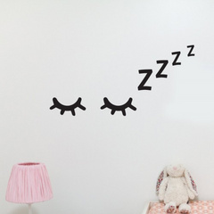 Wall decoration sticker sleepy eyes