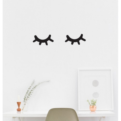 "wall sticker ""sleepy eyes"" :: pikolin"