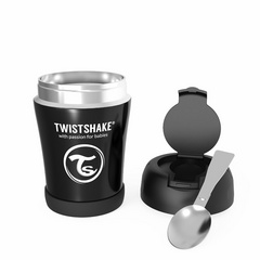 Twistshake® termo posuda za hranu 350ml black