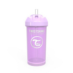 Twistshake® Bočica sa slamkom 360ml (12+m) Pastel Purple