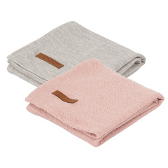 Komplet 2 pamučne pelene Little Dutch - Pure Pink/Grey