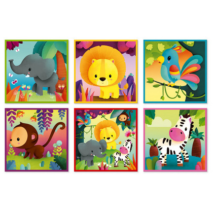 Janod kubkid kocke jungle animals