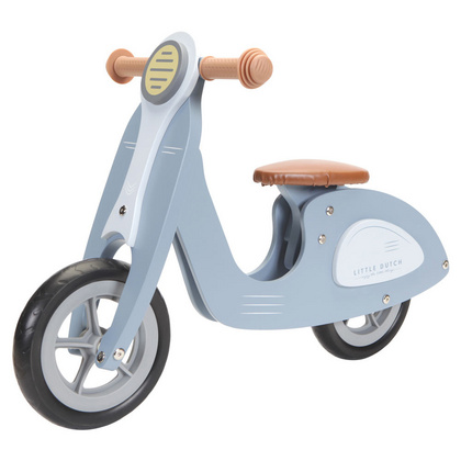 Drveni Scooter/Bicikl Little Dutch - Blue