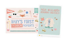 "Milestone ""Baby""s First Fashion moments"" kartice za fotografisanje"
