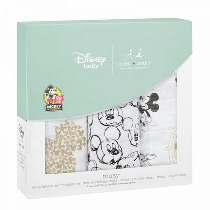 Aden+Anais® Komplet 3 tetra pleničk Disney Mickey's 90th 70×70