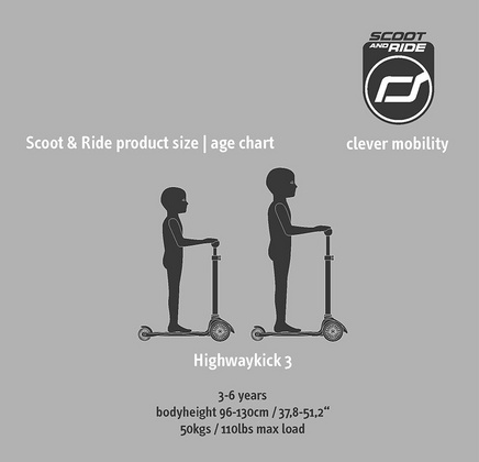 Otroški skiro Scoot&Ride - Highwaykick 3 LED