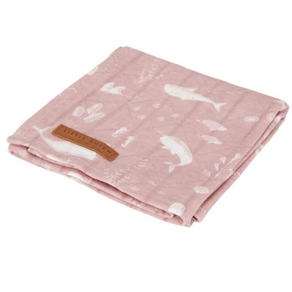 Povijalna plenička Little Dutch – Ocean Pink 120x120