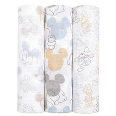 Aden+Anais® Povijalne pleničke Disney Mickey + Minnie 120×120