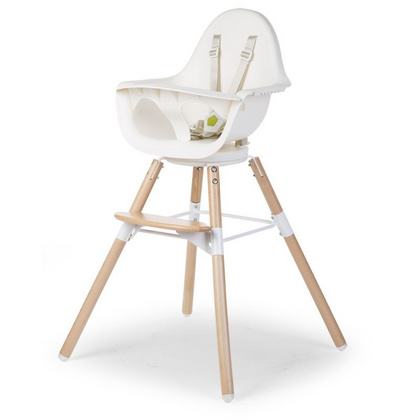 Otroški stol Childhome Evolu ONE.80° White/Natural