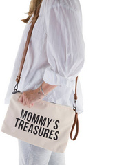 Borsa Childhome Mommy Treasures White-Black
