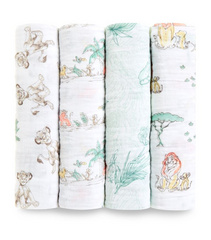 Aden+Anais® Set di 4 pannolini tetra Disney The Lion King 120×120