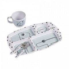 Done by Deer® Set pappa iniziale Happy Dots Tasty - blue