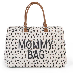 Borsa Fasciatoio Mommy Bag Big Canvas Leopard