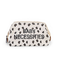 Childhome Baby Beauty Case Necessities - Canvas Leopard