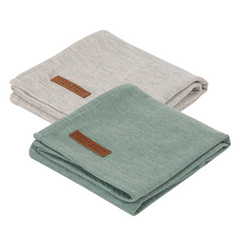 Set di 2 pannolini tetra Little Dutch - Pure Mint/Grey