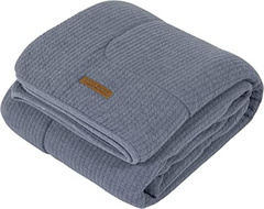 Coperta pure & soft Little Dutch - Pure Blue 70x100