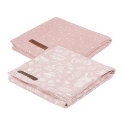 Set di 2 pannolini tetra Little Dutch - Adventure Pink