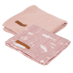 Set di 2 pannolini tetra Little Dutch - Ocean Pink