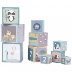 Cubi impilabili tema Little Dutch Zoo in cartonboard