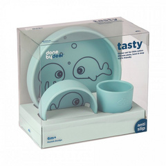 Done by Deer® Set pappa in silicone Sea Friends Blue