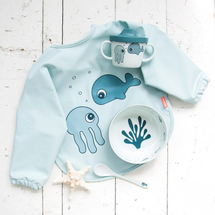Done by Deer® Bavaglino con maniche Sea Friends Blue 6-18m