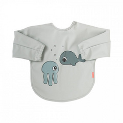 Done by Deer® Bavaglino con maniche Sea Friends Grey 6-18m