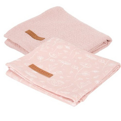 Little Dutch Set di 2 pannolini tetra - Wild Flowers Pink