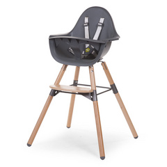 Evolu 2 Chair Seggiolone Evolutivo e Convertibile Anthracite/Natural